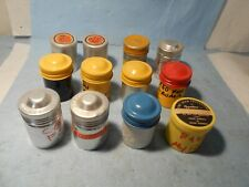 """Vintage 35mm Film Cans / Cantainers 12 pcs. """"with old negatives inside"""""""
