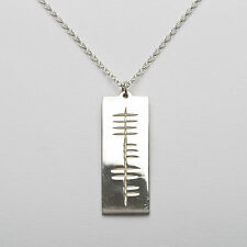 Personalized Sterling Silver Irish Ogham Pendant