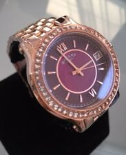 Ladies Genuine Rotary Rose Gold Mop Red Violet Dress Watch Roman LB03033/17