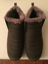 Unisex Winter Snow Boots Size 10 W Olive Green