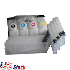 US - Ink Cartridge Bulk Ink System for Roland Mimaki Mu - 4 Bottles 8 Cartridges