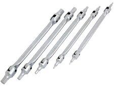 Neilsen Hex Allen Wrench Set 5 Piece Swivel Head Metric 250mm Long Chrome 1383