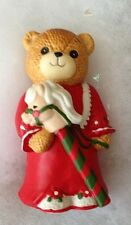 Vintage Enesco Bear Stick Horse Lucy Rigg Christmas Figurine Lucy & Me 1984