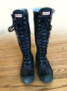 Hunter Rain Boots Lace Up Limited Edition Women Size 8
