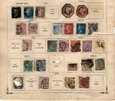 Collection  stamps of Great Britain 1840-1871 see scan  penny black (mb10