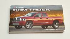 2007 DODGE RAM OWNERS MANUAL USER GUIDE REGULAR CAB QUAD CAB MEGA CAB 4X4 2WD