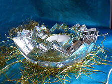 """Schwerer Tiffany Glas Leuchter Teelicht Halter """"NEU"""""""