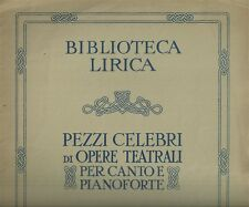 La Wally di Alfredo Catalani Spartito Antico per Canto e Pianoforte 1931