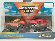 El Toro Loco & Slinger (2019) Spin Master Monster Jam 1:64 Scale Trucks New