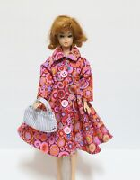 "Handmade Vintage Doll Dress Coat with Handbag for Barbie and 12"" dolls"