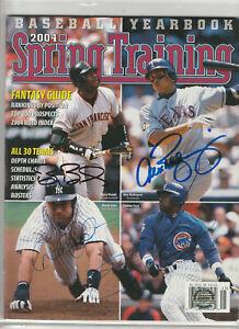 Barry Bonds,Sammy Sosa,Derek Jeter,Alex Rodriguez Autograph w/ *COA* Hand Signed