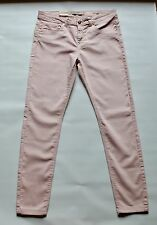 Outfitters Cream Light Pink High Quality 100% Cotton Ladies Chinos UK Size 16""