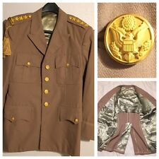 Vintage 50's Korean War? US Army 4 Star Officers Tan Class A Jacket Tunic 39R M