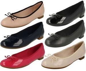 Damen Leather Clarks Dolly Schuhe Stil Kontur Bloom