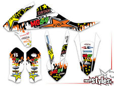 KTM SXF EXC XC 85 125 250 300 350 450 500 MX decals DECORO grafiche Graphique KIT