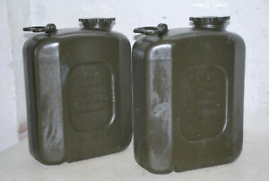 2x Wasserkanister Kanister Trinkwasser Bundeswehrkanister 20 Liter BW Bundeswehr