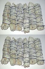 """LOT of 12 white Sage Smudge 4 1/2 to 5"""" Stick House Cleansing Negativity Removal"""