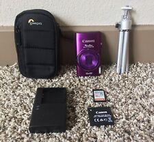 Canon PowerShot ELPH 340 HS / IXUS 265 HS 16.0MP Digital Camera Bundle - Purple