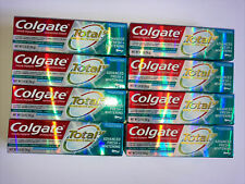 LOT OF 8 Colgate Total Advanced Fresh + Whitening Toothpaste Gel 3.4 oz. 06/2022