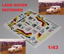 Decal Land Rover Defender Rally Dakar 1:43