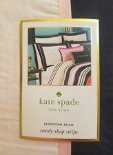 New Kate Spade Candy Shop Stripe Cotton Candy Euro Pillow Sham