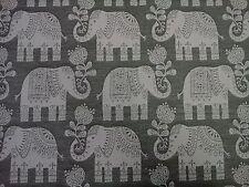 MARSON ELEPHANTS AMY GREY DESIGNER CURTAINS BLINDS UPHOLSTERY WOVEN FABRIC