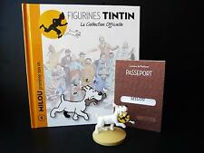"""LARGE 5"""" TINTIN FIGURINE """"OFFICIAL COLLECTION"""" #M06 SNOWY WITH HIS BONE"""