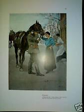 WENNERBERG:JUGENDSTIL 1915-PRINT-CAVALLO PRIMA GUERRA