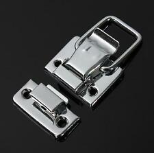 Silver Fastener Toggle Latch Catch Chest Case Suitcase Boxes Chests Trunk Lock S