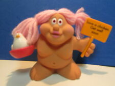"SAVE A CHICKEN, GET WELL SOON - 3"" Russ Troll Doll - NEW IN ORIGINAL WRAPPER"