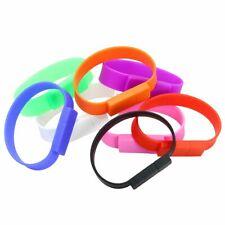 Silicone Band Bracelet USB Flash Drive Thumb USB Memory Stick U Disk Pen Drive