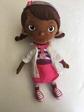 "Disney Store Doc McStuffins Doctor Plush Doll Figure Stuffed Toy 14"" Tall Soft"