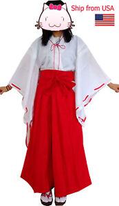 Inuyasha Psychic Kikyo Kimono Cosplay party Japanese anime  Costume