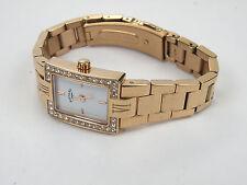 Ladies Rotary LB02594/02 Rose Quartz Gold Plated Diamante Watch