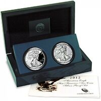 2018 2017Silver Eagle Set With Packaging 2 Coins No 2012 Coins Comes With 18,17