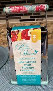 THE PIONEER WOMAN GORGEOUS GARDEN BOX GRATER WITH STORAGE CONTAINER NEW