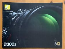 Nikon D300S Digital Camera,  A4 Product Brochure, 2009