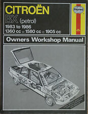 CITROEN BX 1983-1986 1360 cc 1850cc 1905cc Owners Workshop Manual