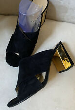 New Canvas By Lands End Suede Mules 8