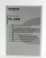 Instruction Manual Olympus Electronic Flash FL-36R Anleitung FL 36R  FL36R