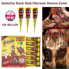 High Quality GOLECHA DARK RED/MAROON HENNA CONES Pen Arabic Mehandi Tattoo Paste