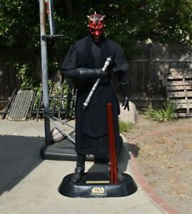 STAR WARS EPISODE 1 LIFE SIZE DARTH MAUL STATUE 6FT 1999 PEPSI - USED CONDITION