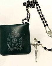 Corona Rosario nero del Pontificato di Papa Francesco - Rosaries of Pope Francis