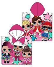 Girls Official LOL Surprise Dolls Cotton Poncho Kids Hooded Beach Bath Towel