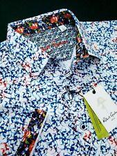 Robert Graham XL Floral SKULL Print Short Sleeve Sports Shirts