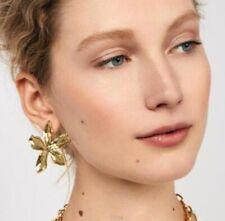 Fashion Women Gold Stereoscopic Flower Dangle Ear Stud Earrings Jewelry Gift