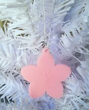 STARBUCKS COFFEE PINK FLOWER CHRISTMAS ORNAMENT, UNIQUE STOCKING STUFFER