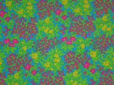 "Floral lycra fabric flower garden designer 4way sport material 60"" By the yard"