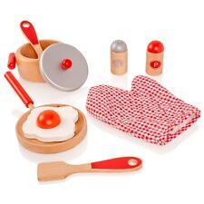 VIGA Wooden Cooking Tool Set - Red