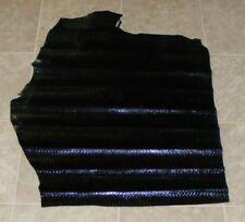 (LFE10504) Hide of Black Printed Cow Leather Hide Skin